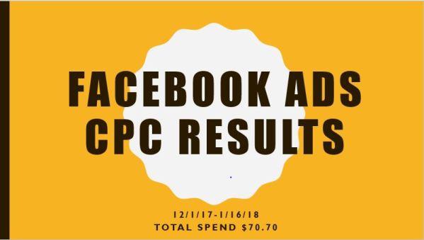 Facebook CPC 1.16.18