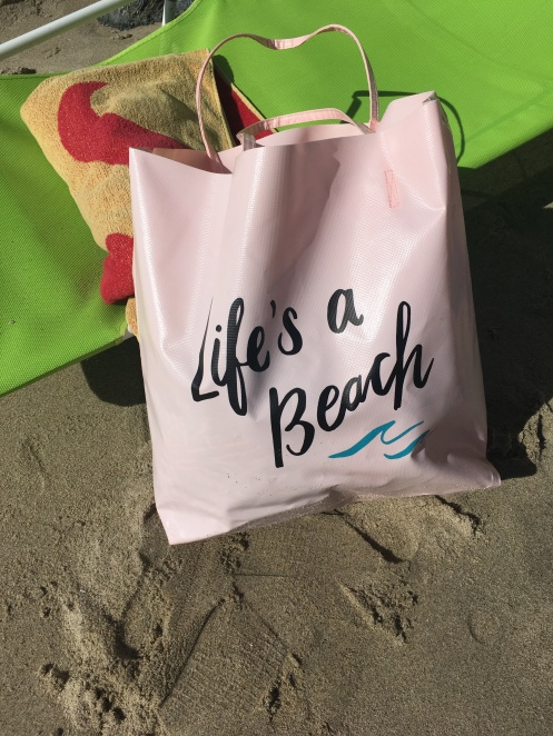 Lifes a beach bag
