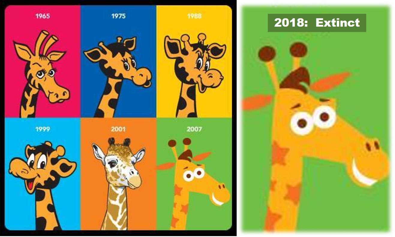 geoffrey the giraffe 2018 toys r us through the years