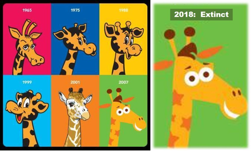 geoffrey the giraffe 2018 toys r us through the years