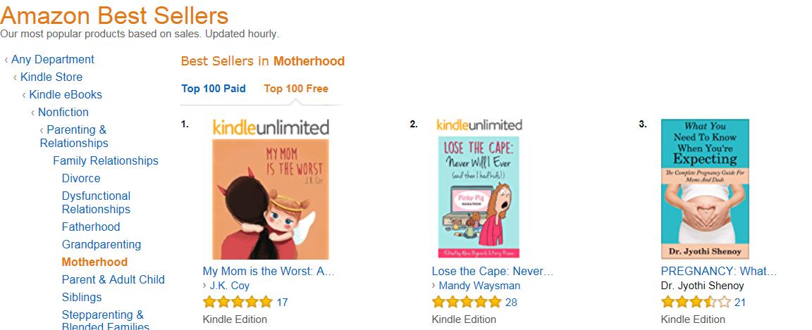 Amazon Rank, My Mom is the Worst #1 Motherhood