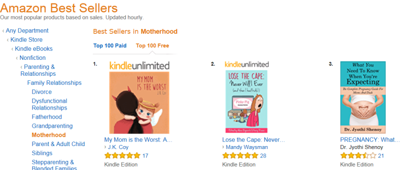 Amazon Rank, My Mom is the Worst #1 Motherhood